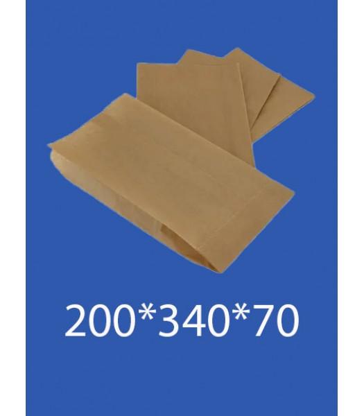 """Бумажный Пакет Крафт """"Саше"""" 200*340*70 100шт. в упаковке"""