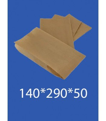"""Бумажный Пакет Крафт """"Саше"""" 140*290*50 100шт. в упаковке"""