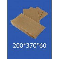 """Бумажный Пакет Крафт """"Саше"""" 200*370*60 100шт. в упаковке"""