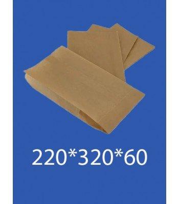 """Бумажный Пакет Крафт """"Саше"""" 220*320*60 100шт. в упаковке"""