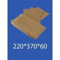 """Бумажный Пакет Крафт """"Саше"""" 220*370*60 100шт. в упаковке"""