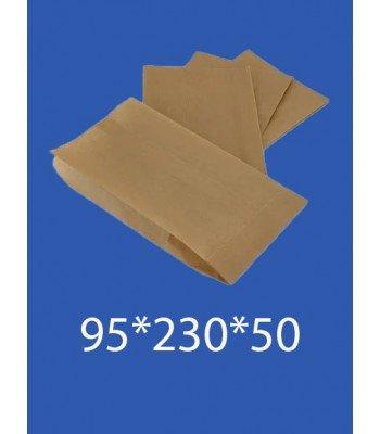 """Бумажный Пакет Крафт """"Саше"""" 95*230*50 100шт. в упаковке"""