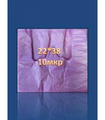 Пакет Майка 22*38 10мкр (100 шт. в упаковке)