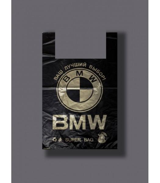 Пакет майка BMW 38*58 (25мкр) 100шт 100шт/уп