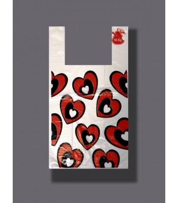 Пакет Любимые покупки Сердца 100шт. в упаковке
