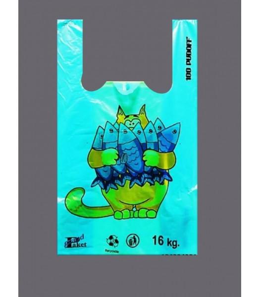 Пакет Майка Отдел Рыба 100шт. в упаковке