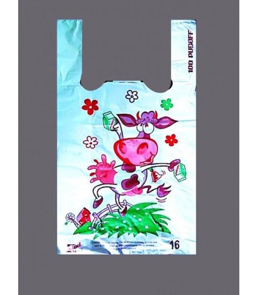 Пакет Майка Отдел Молоко 100шт. в упаковке