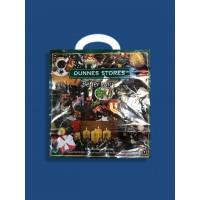 Новогодний Пакет с петлевой ручкой 45*45 80мкр. 25шт. в упаковке
