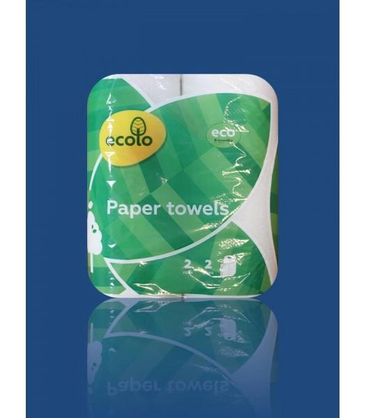 Полотенце Бумажные Ecolo 2 слойные 2 рулона