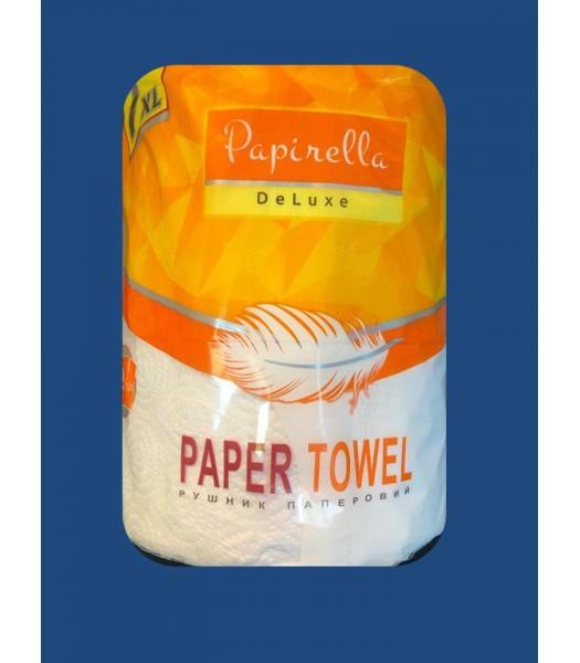 Бумажные полотенца Papirella DeLuxe 7XL 2 слоя 500 отрывов