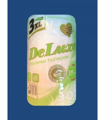Бумажные полотенца DeLuxe 3XL 2 слоя 250 отрывов