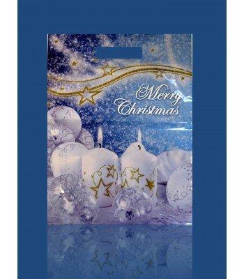 Пакет Колокольчик, Снежный Шар 30*40 50шт. в упаковке