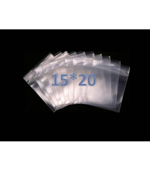 Пакеты с замком zip lock 15*20 (100 шт. в упаковке)
