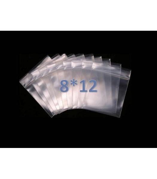 Пакеты с замком zip lock 8*12 (100 шт. в упаковке)
