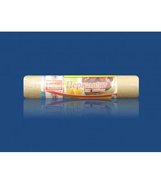 Бумага для выпечки пергаментная 50м 30см коричневая