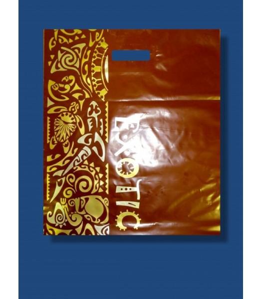 Пакет цветной с прорезной ручкой Galaxy 50шт. в упаковке
