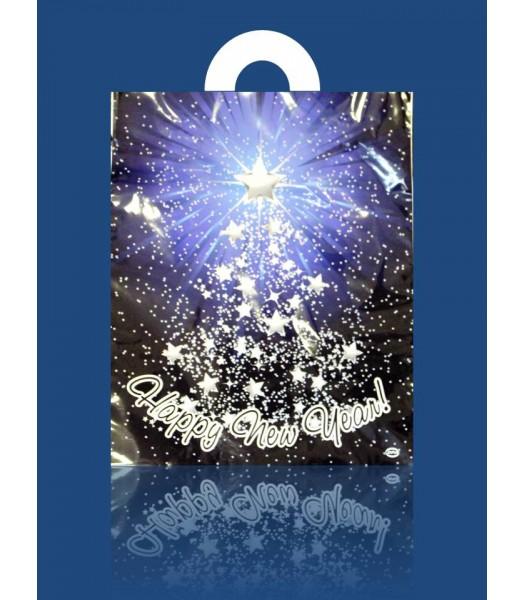 Пакет Ламинат мал. Новый Год 25*30  25шт. в упаковке