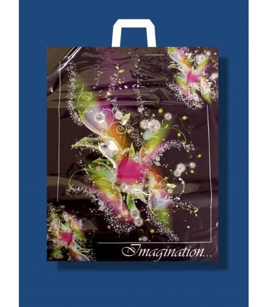 """Пакет с петлевой ручкой 36*45  """"Ламинат большой"""" 25 шт. в упаковке"""