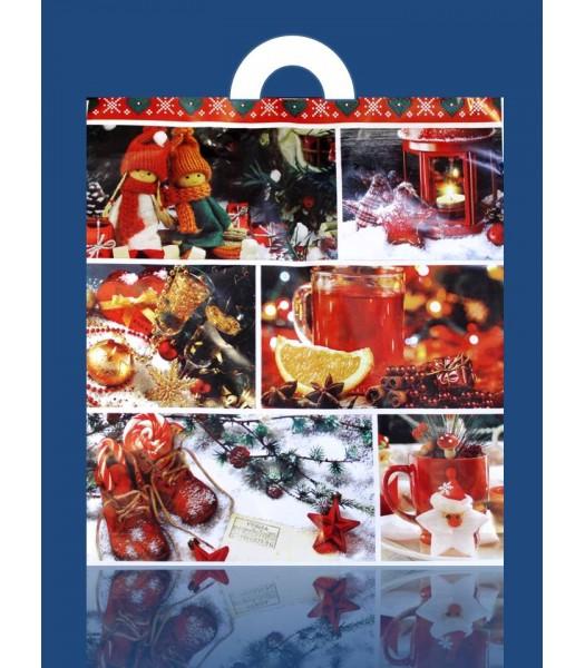 Пакет Новый Год Сафари 40*43 25шт. в упаковке