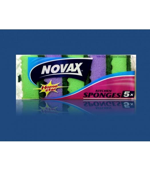 Мочалка Novax 5шт. Плюс
