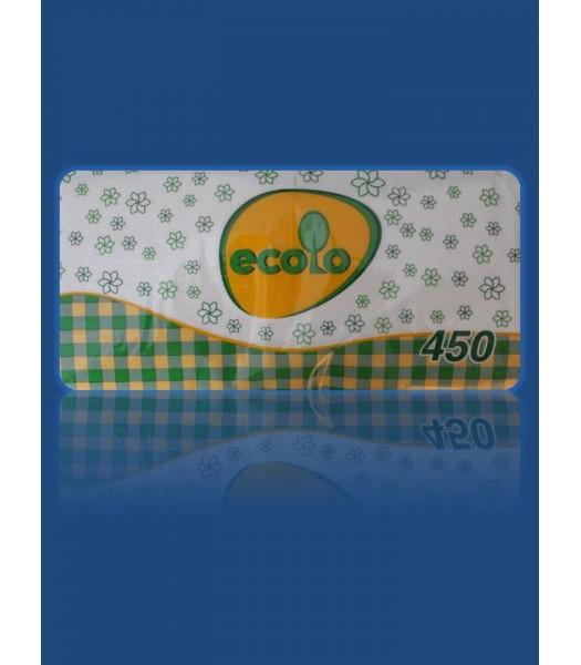 Салфетка Рута Эколо 1 слойная 24*24 450шт. в упаковке