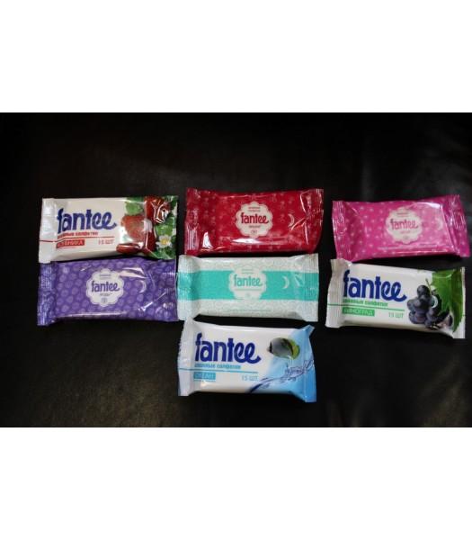 Салфетки влажные Fantee по 15 шт. в упаковке